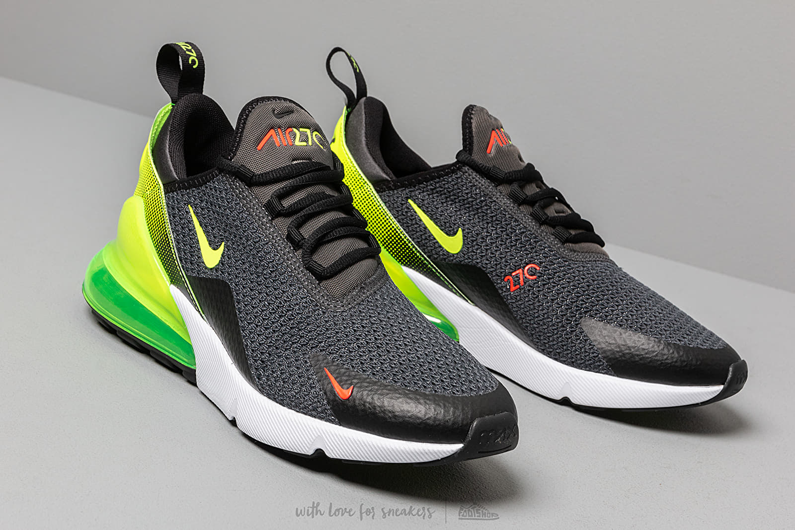 Nike Air Max 270 Se Anthracite Volt Black Bright Crimson | Footshop