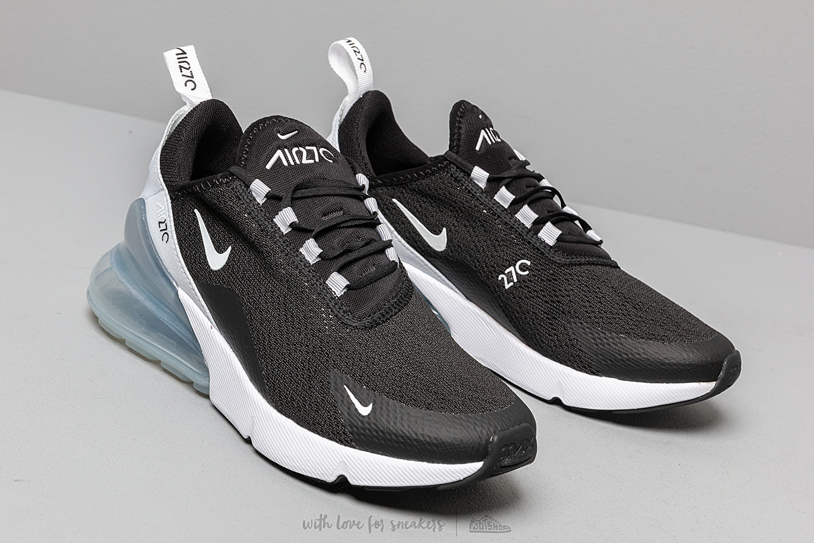 Nike W Air Max 270 Black White Pure Platinum White | Footshop