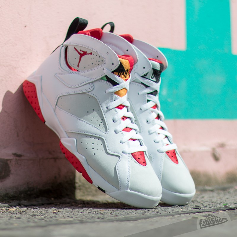 "45af6f29d343 Air Jordan 7 Retro ""Hare"" White  True Red- Light Silver"