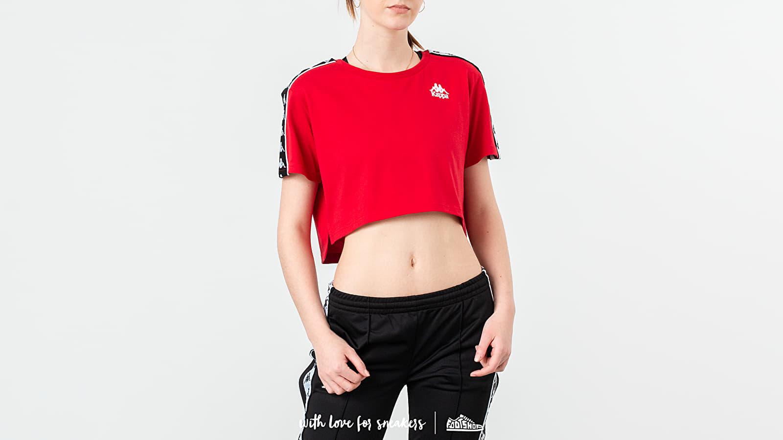 Trička Kappa Banda Apua Tee Red/ Black/ White
