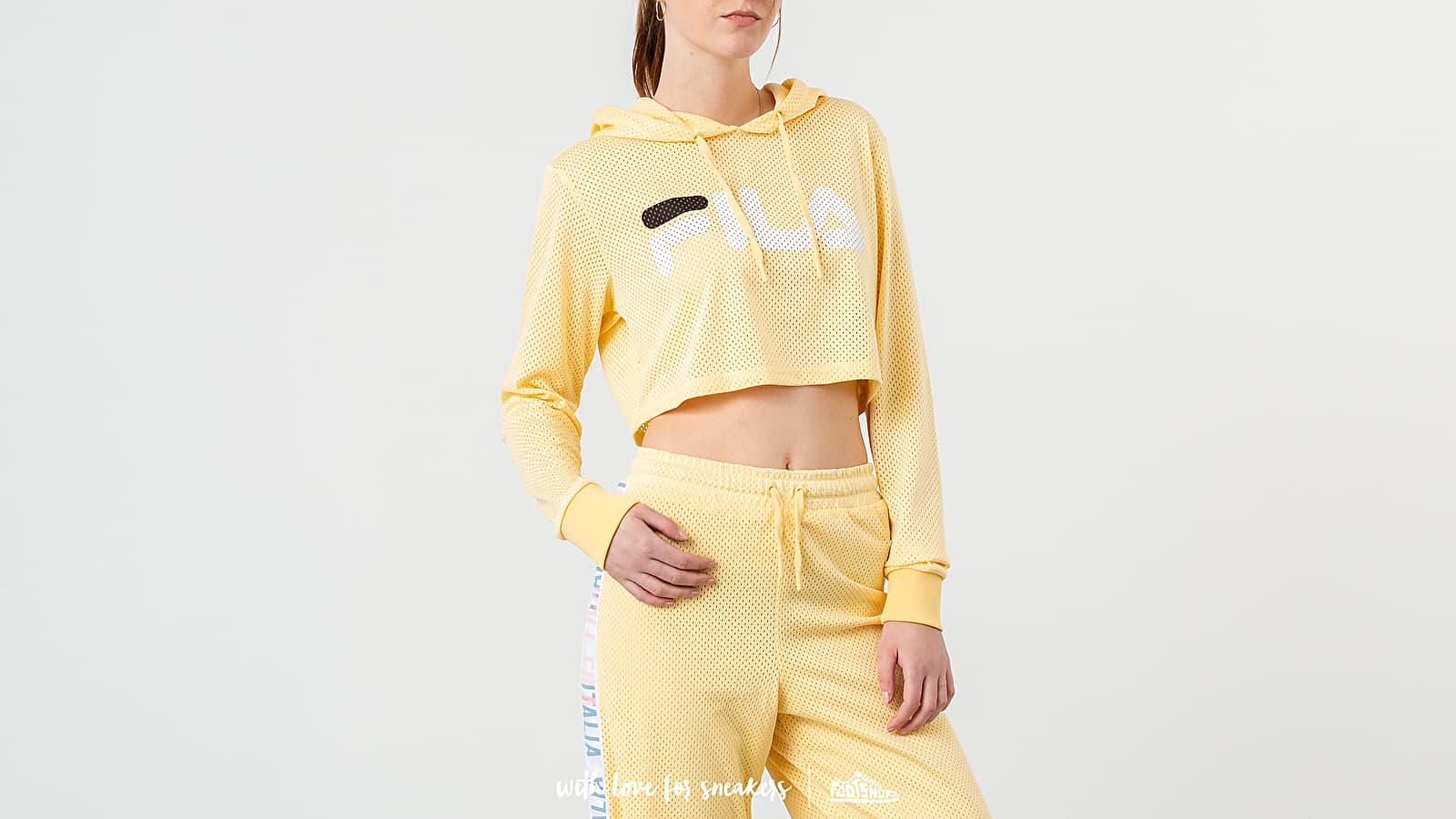 Sweatshirts FILA Noemi Cropped Hoodie Pale Banana