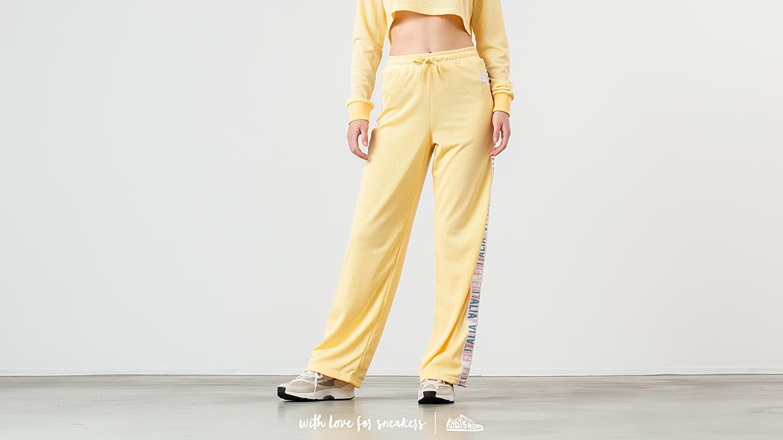 Džíny a kalhoty FILA Adora Mesh Pants Pale Banana