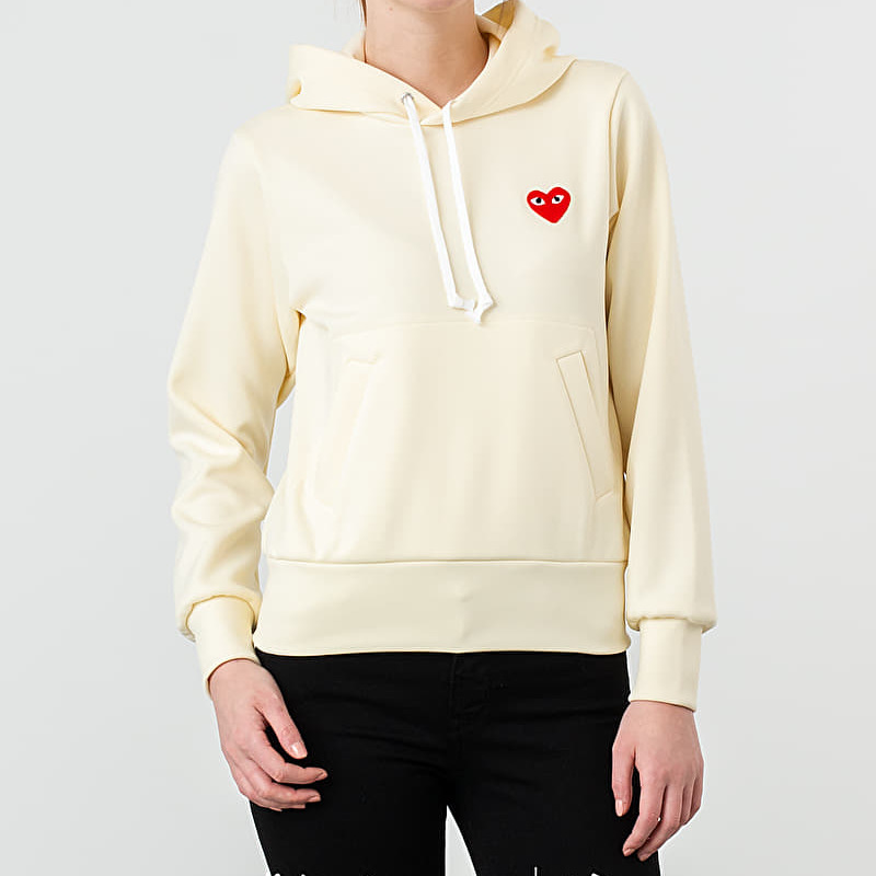 Comme des Garçons PLAY Hoodie Ivory, Yellow