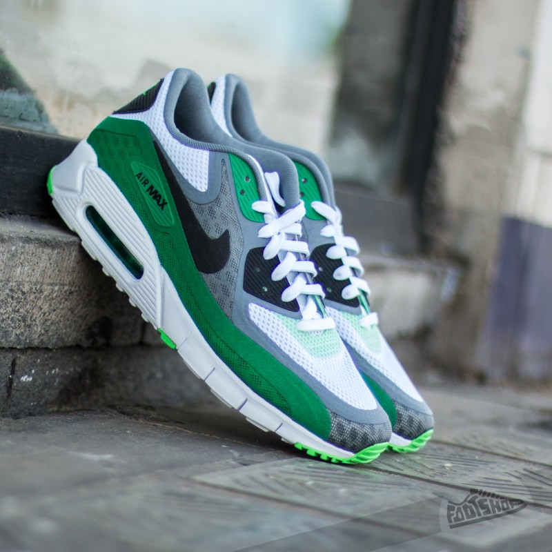 reputable site 6393e 28644 Nike Air Max 90 BR White/Black Cool Grey Pn Green | Footshop
