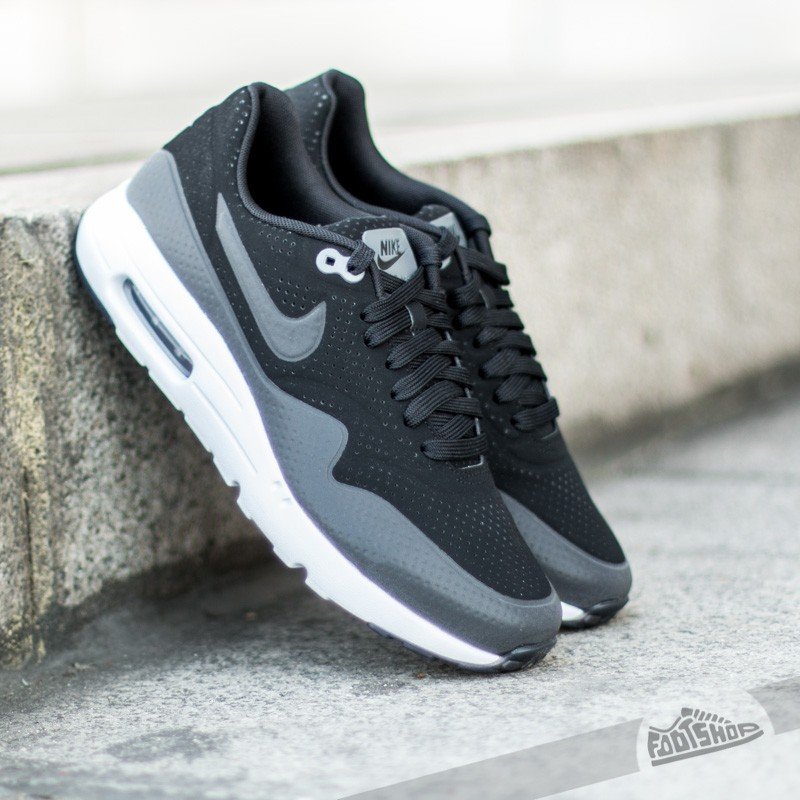 big sale 8fcd7 db9a0 Nike Air Max 1 Ultra Moire Black Black-Dark Grey-White
