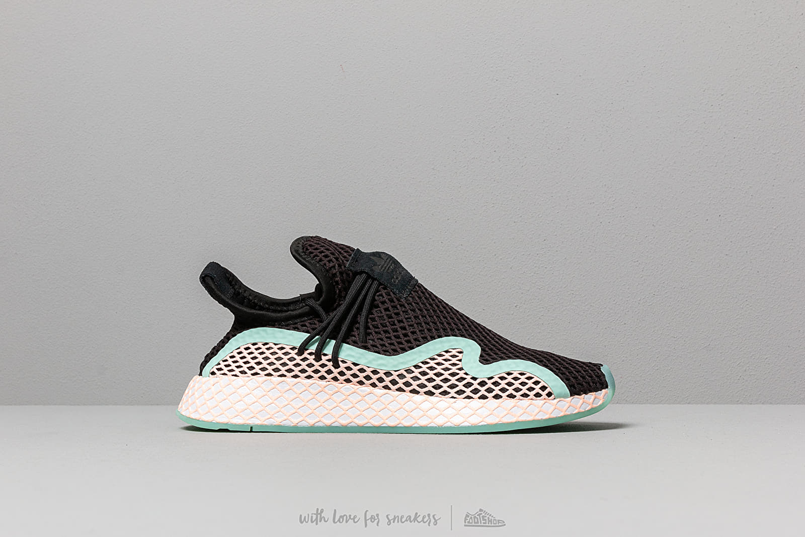 d5473d03b4b8b adidas Deerupt S Core Black  Clear Orange  Ftw White at a great price  125