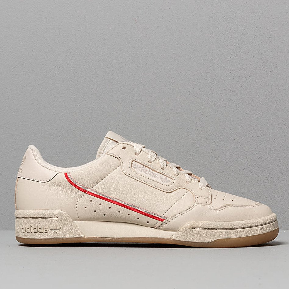 adidas Continental 80 Core Brown/ Scarlet/ Ecru Tint