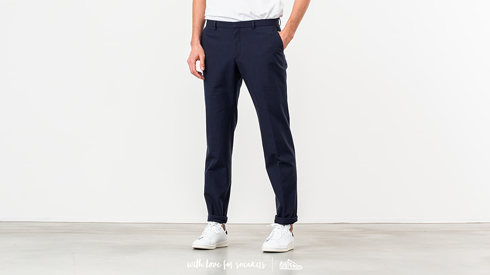 MAISON KITSUNÉ Small Check Classic Fit Pants Navy Check at a great price 245 € buy at Footshop