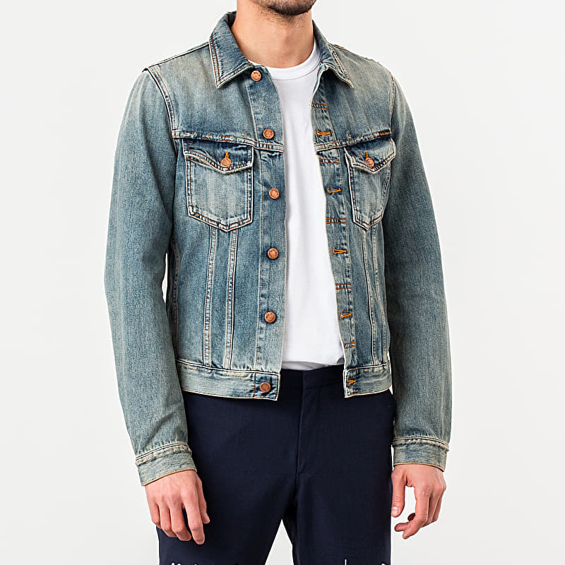 Nudie Jeans Billy Denim Jacket Shimmering Indigo, Blue