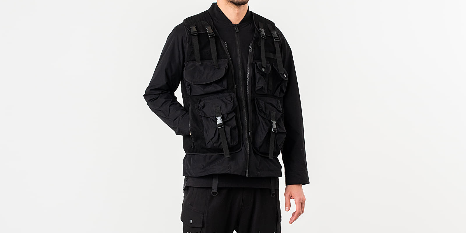 White Mountaineering Military Blouson Jacket Black
