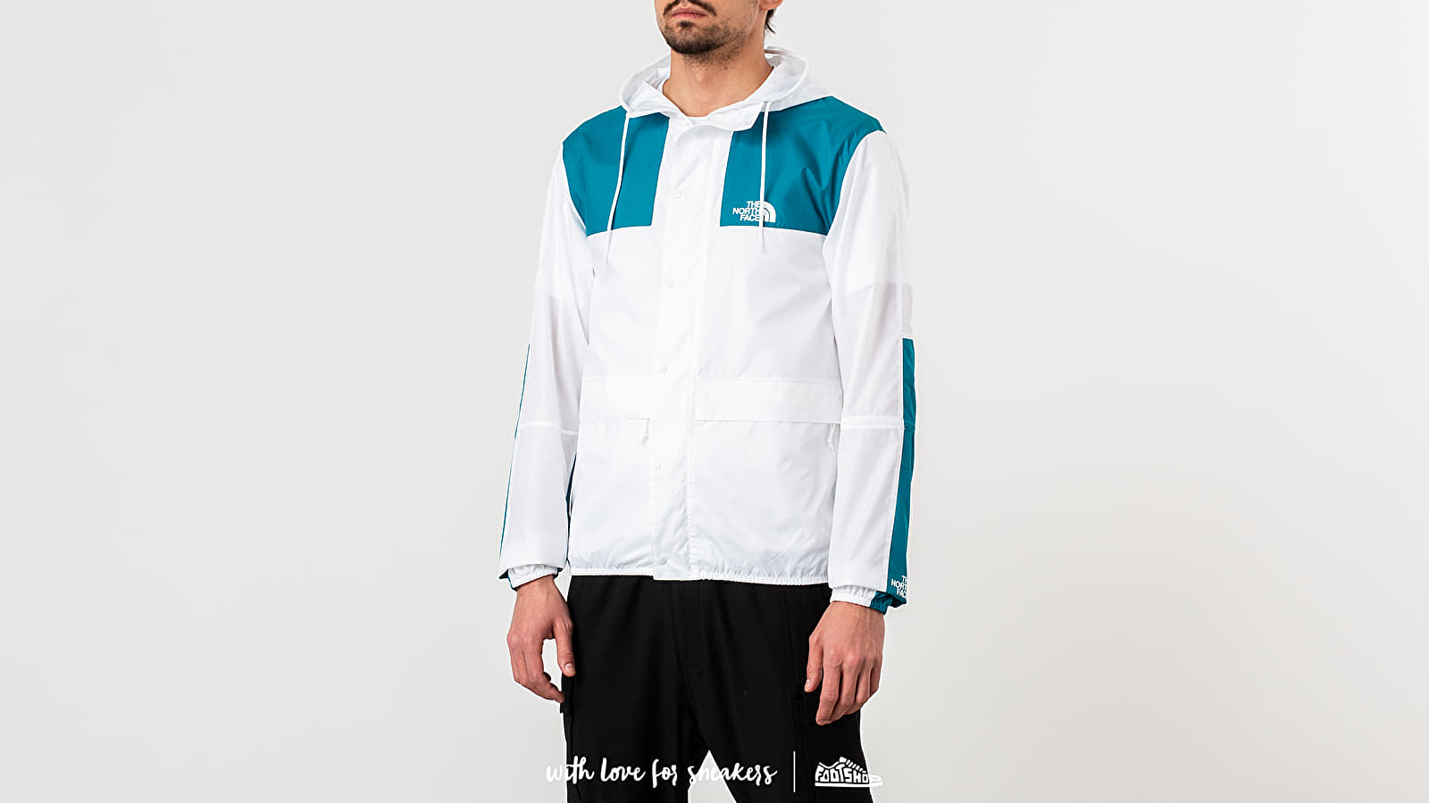 The North Face 1985 Mountain Jacket TNF White/ Crystal Teal za skvelú cenu 99 € kúpite na Footshop.sk