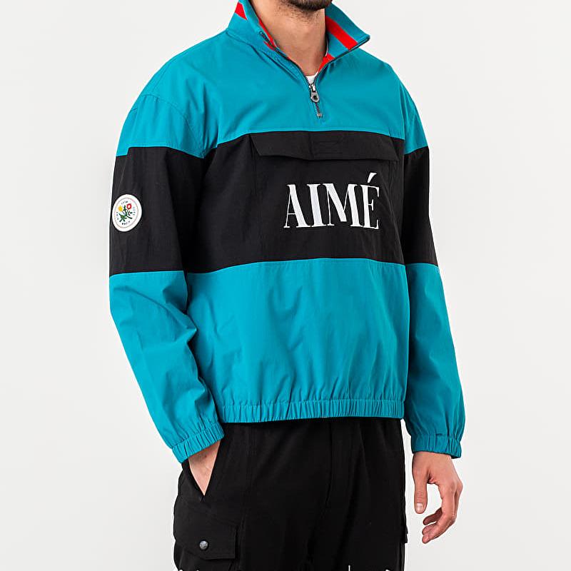 Aime Leon Dore Nylon Quarter Zip Pullover Jacket Navy Blue L