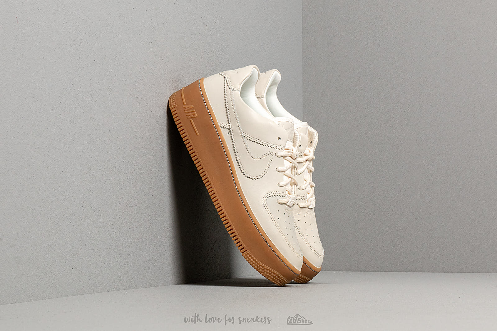 best sneakers 9a6e1 d8b36 Nike W Air Force 1 Sage Low Lx Pale Ivory  Pale Ivory-Gum Light