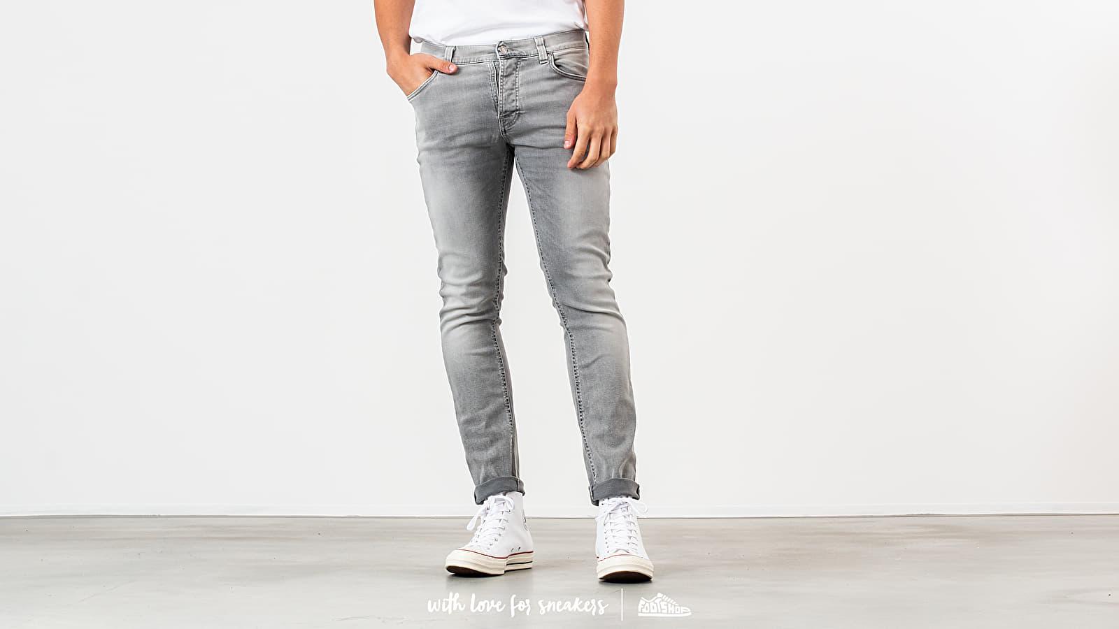 Hlače in kavbojke Nudie Jeans Grim Tim Jeans Light Grey Trashed