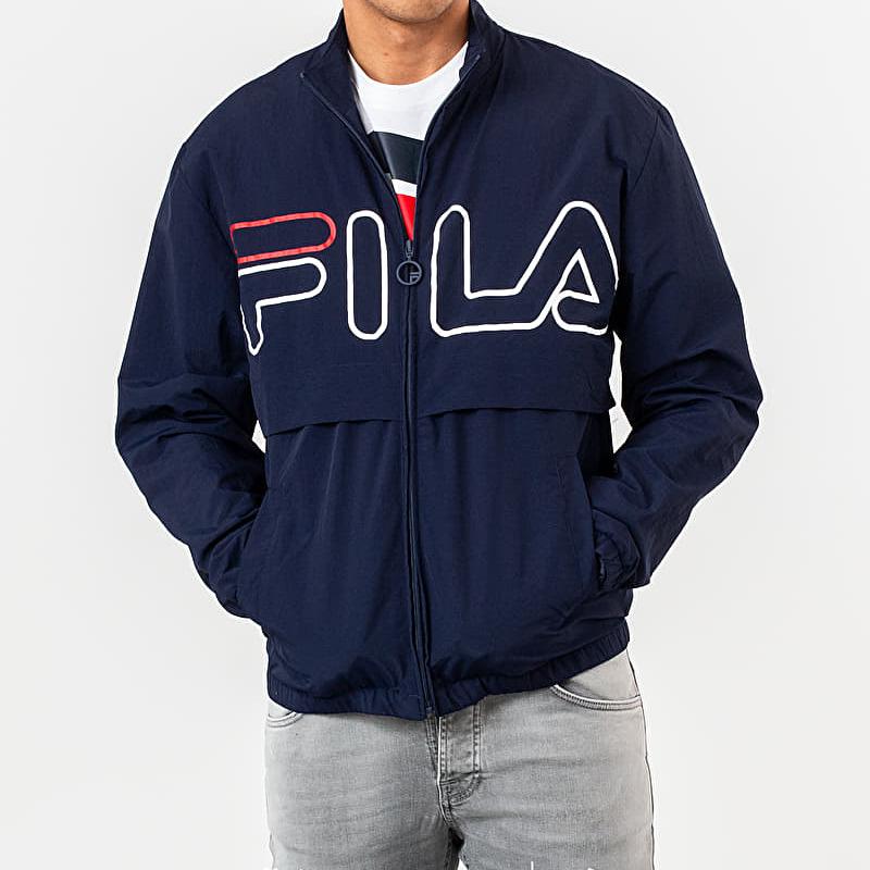FILA Dani Large Logo Track Jacket Peacoat, Blue