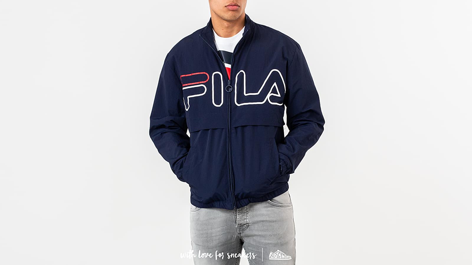 Треньорски якета FILA Dani Large Logo Track Jacket Peacoat