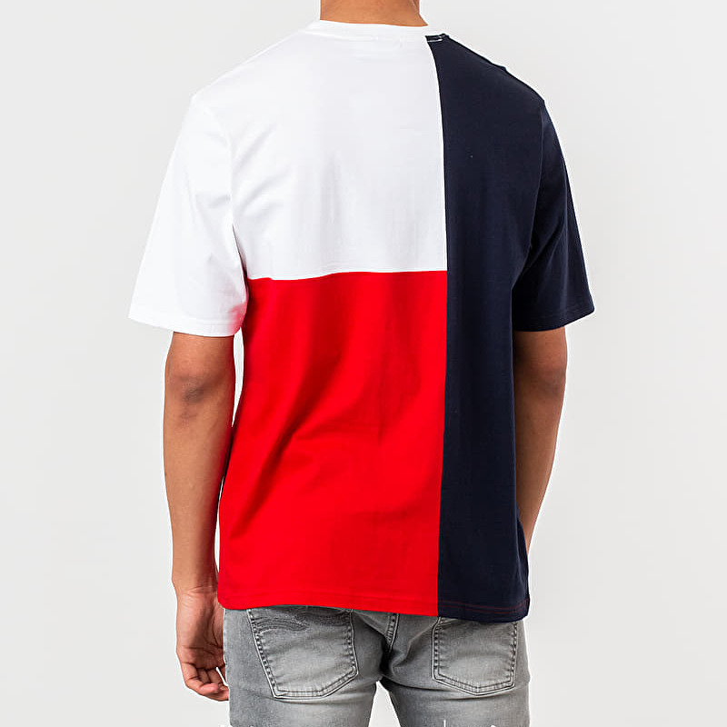 FILA Indo Colour Block Fit Tee Peacoat, White
