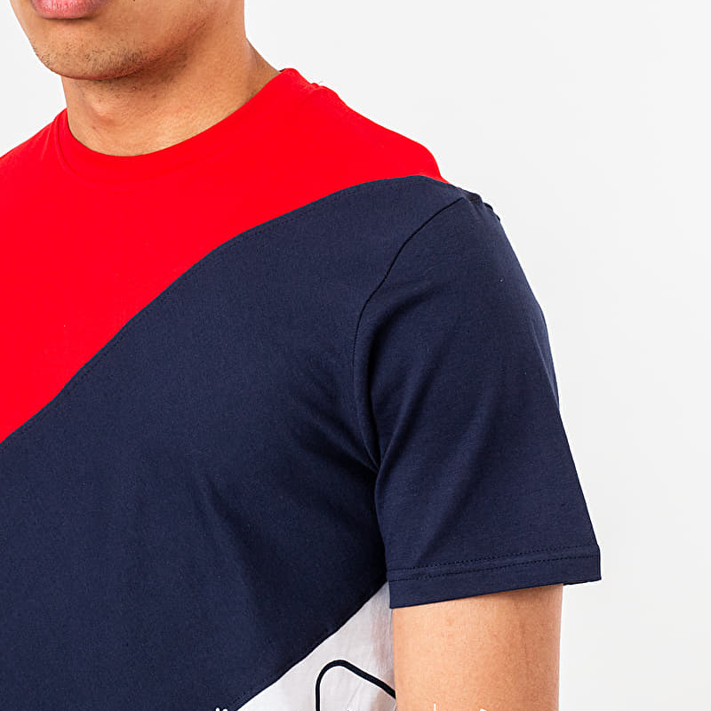 FILA Grove Diagonal Block Tee Chinese Red