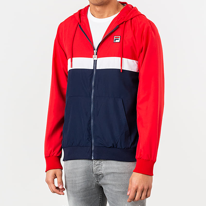 FILA Ambrose Colour Block Jacket Chinese Red