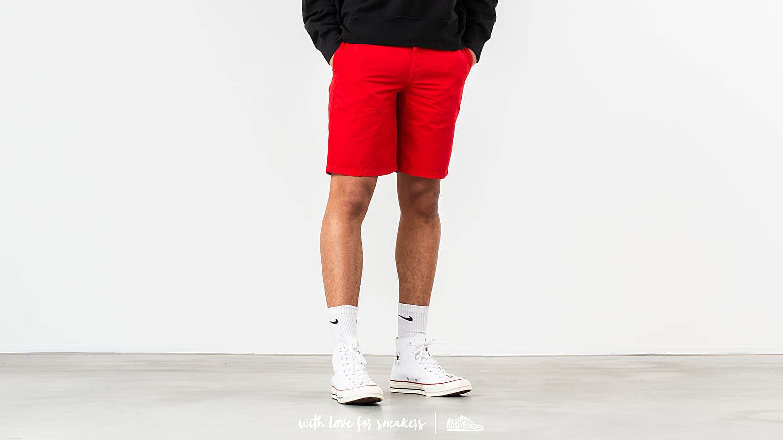 Rövidnadrágok Norse Projects Aros Light Twill Shorts Askja Red