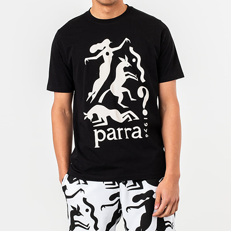by Parra Workout Woman Horse Tee Black
