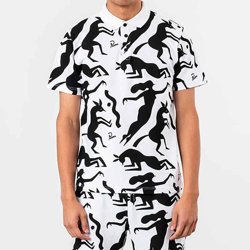by Parra Workout Woman Horse Tee White