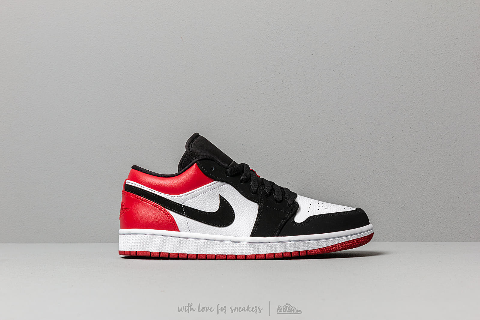 Air Jordan 1 Low White/ Black-Gym Red | Footshop
