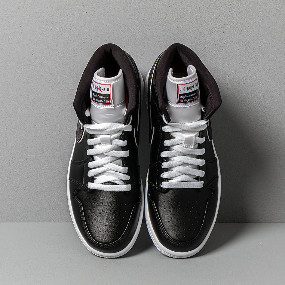 Air Jordan 1 Mid Se Black/ Black-White
