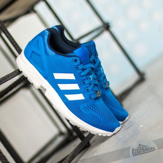 big sale bed5c 21e45 adidas ZX Flux Blue/ White | Footshop