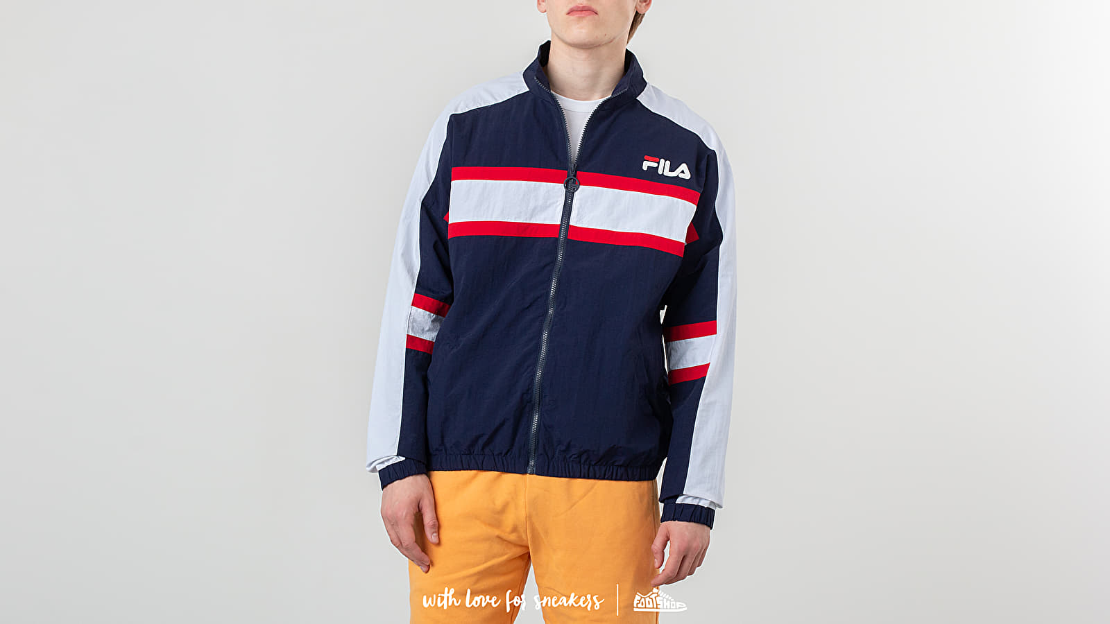 Vjetrovke FILA Carter Colour Block Track Jacket Peacoat