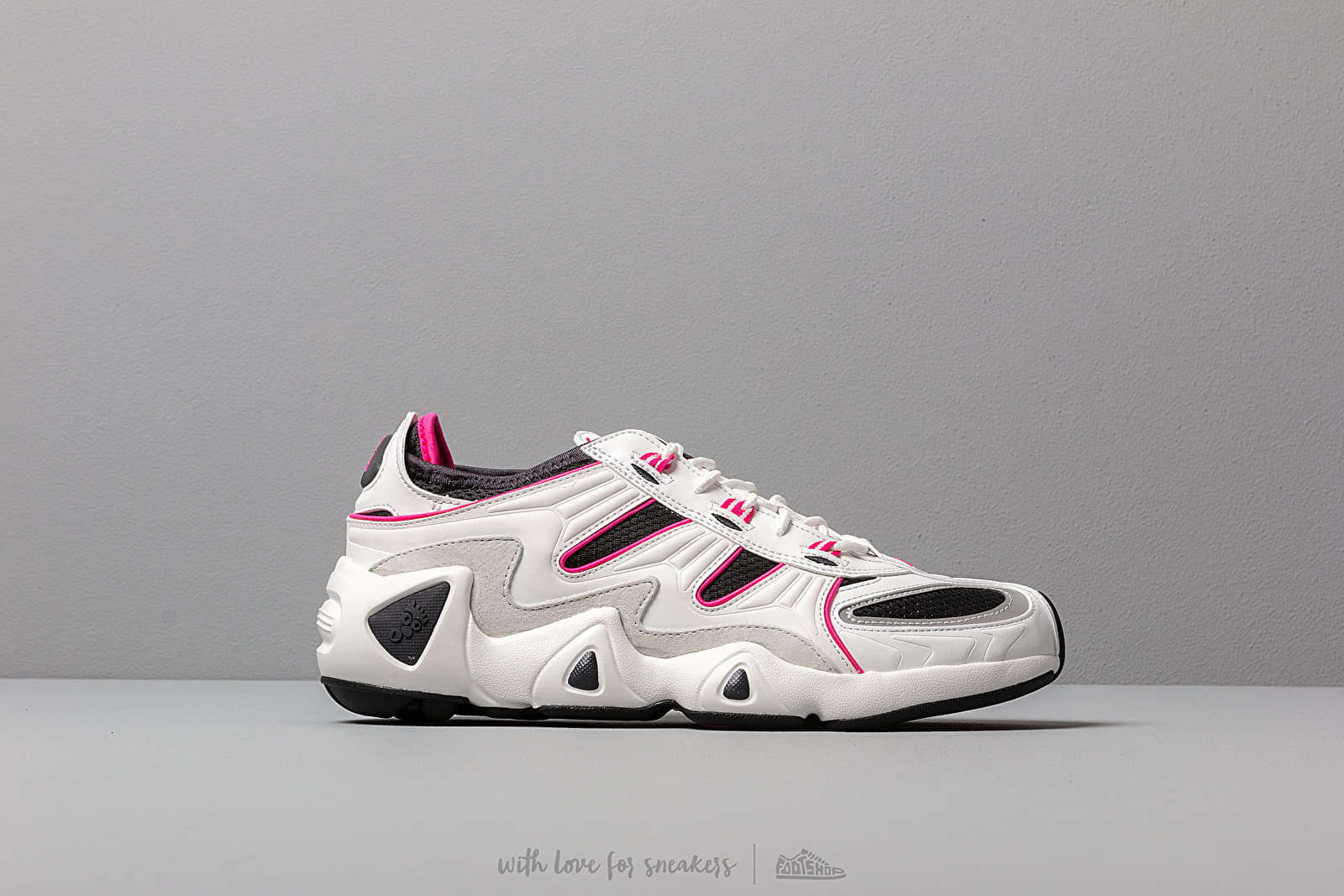 online store baf9e 03630 adidas FYW S-97 Crystal White  Crystal White  Shock Pink at a great