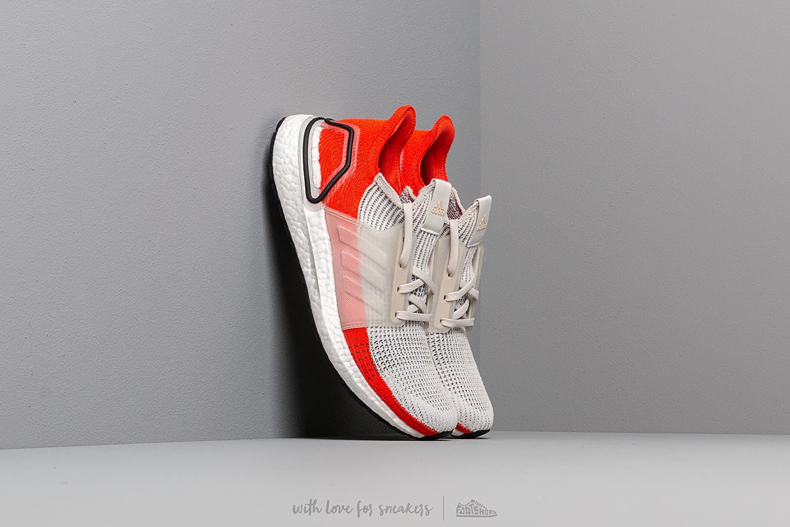 Men's shoes adidas UltraBOOST 19 Raw White/ Ftw White/ Active Orange