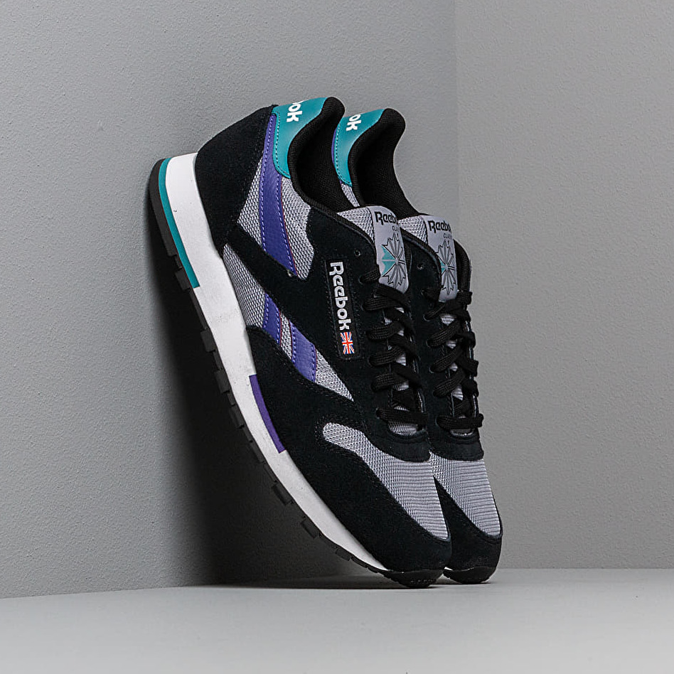 Reebok Classic Leather MU Black/ White/ Shadow/ Purple EUR 45