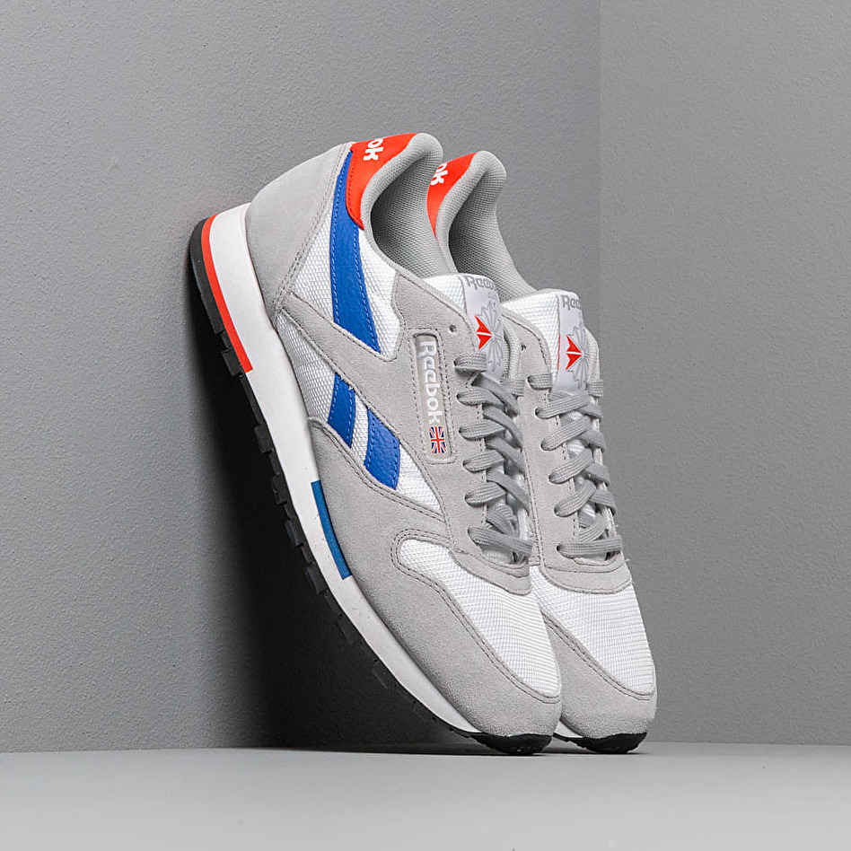 Reebok Classic Leather MU White/ Grey/ Cobalt/ Orange/ Black EUR 45