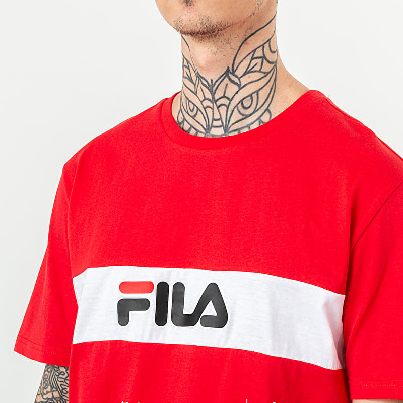 FILA Nolan Tee Dropped Shoulder True Red/ Bright White