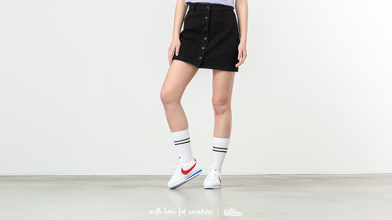 Φούστες Lazy OAF Button Through Skirt Black
