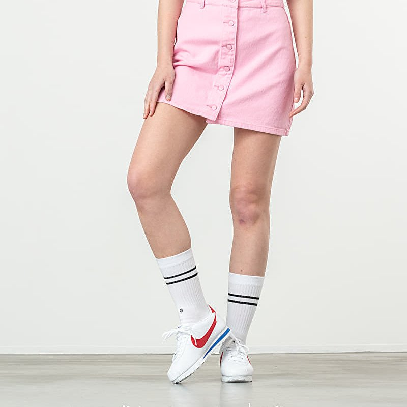 Lazy OAF Button Through Skirt Pink