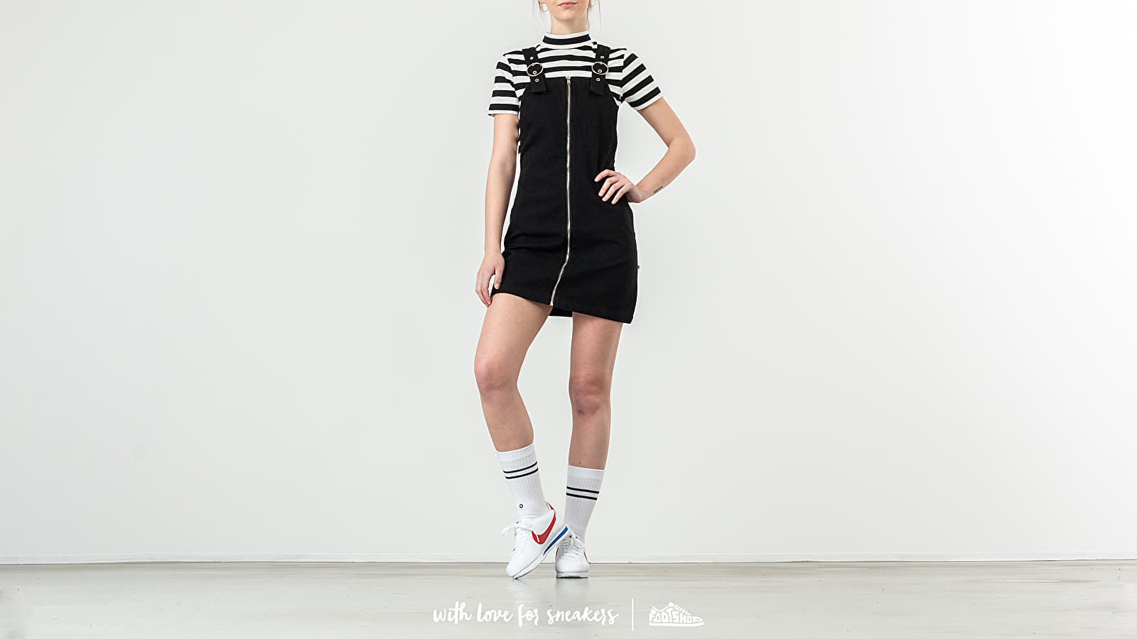 Φορέματα Lazy OAF Zip Pinafore Dress Black