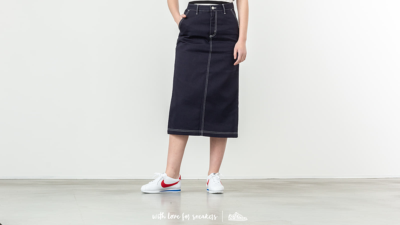 Carhartt WIP Pierce Skirt Dark Navy Rigid za skvělou cenu 1 990 Kč koupíte na Footshop.cz