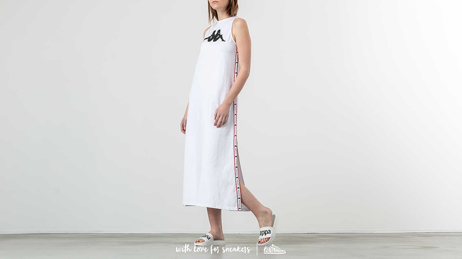 Šaty Kappa Authentic Banoy Dress White/ Red/ Black