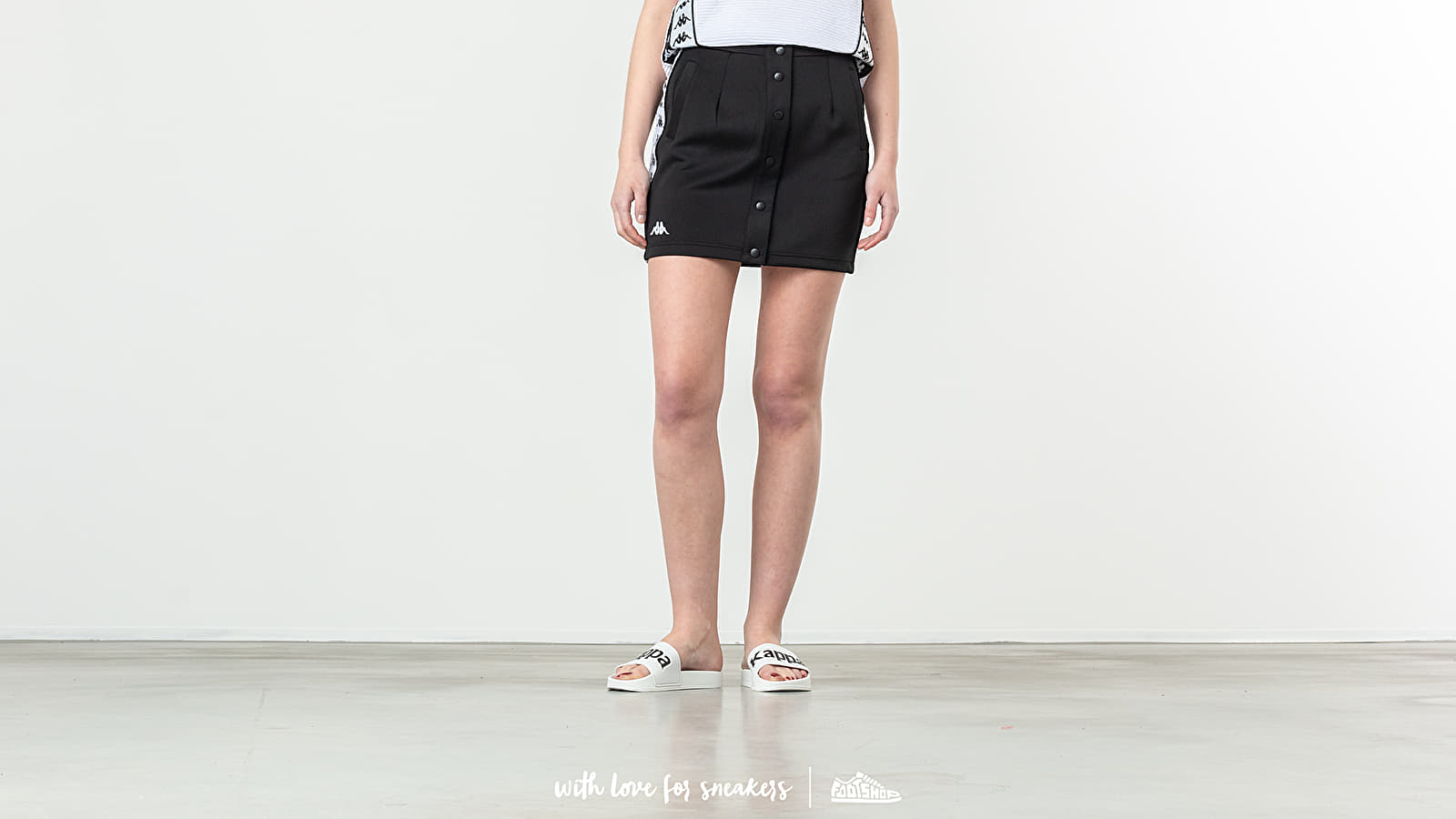 Jupes Kappa Banda Baquima Skirt Black/ White