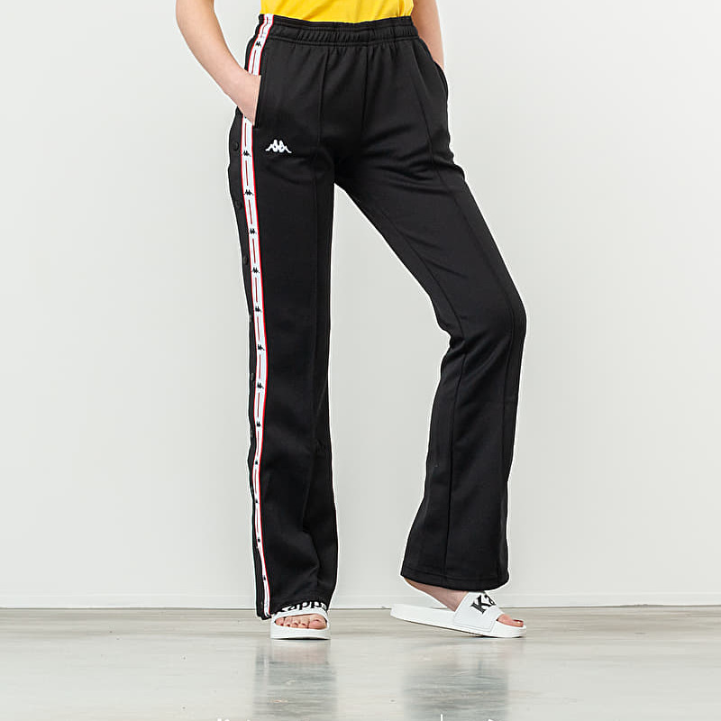 Kappa Authentic JPN Banity Trousers Black Red White