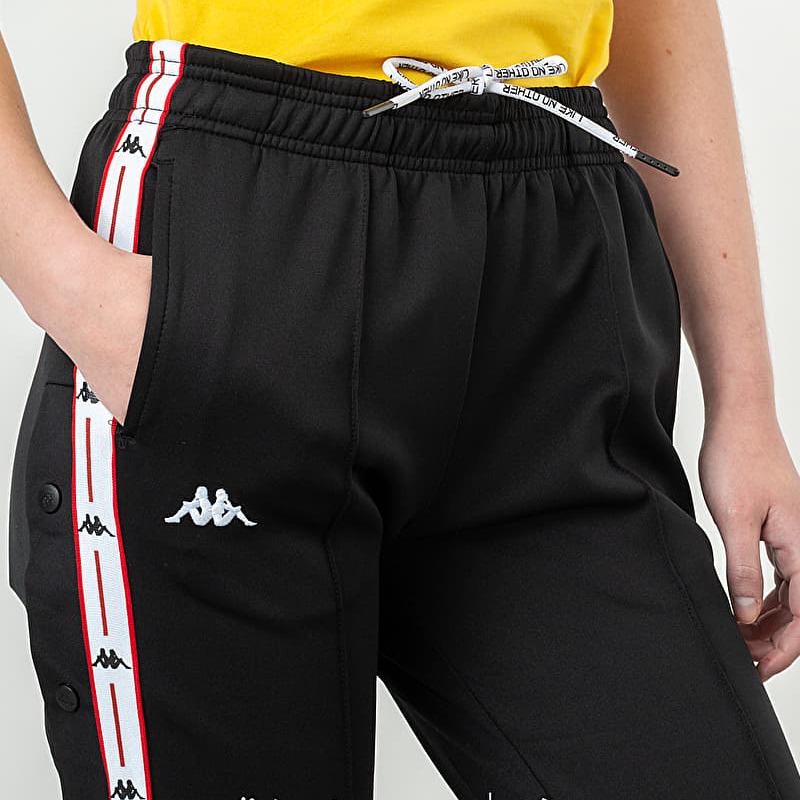 Kappa Authentic JPN Banity Trousers Black/ Red/ White