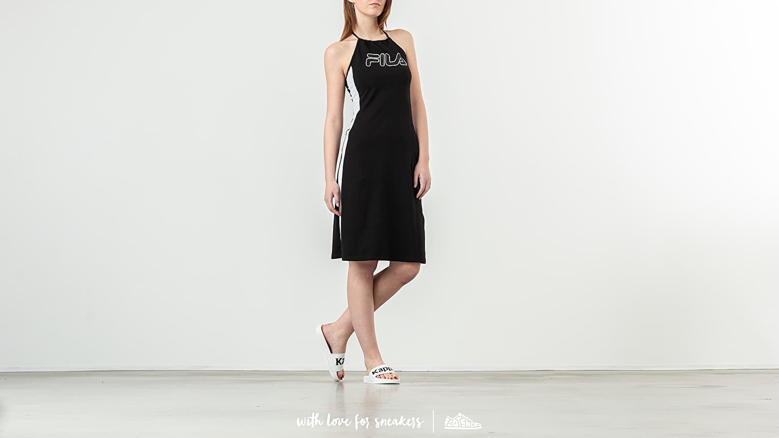 Φορέματα FILA Amina Neckholder Dress Black/ Bright White