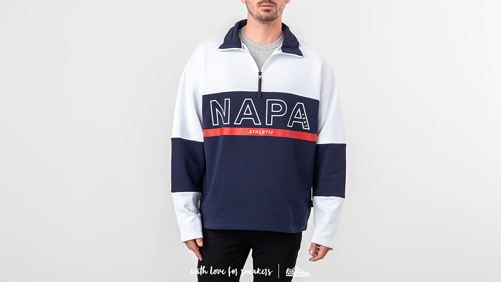 Суичърти NAPA by Napapijri B-Anzere Half Zip Crewneck Multicolor