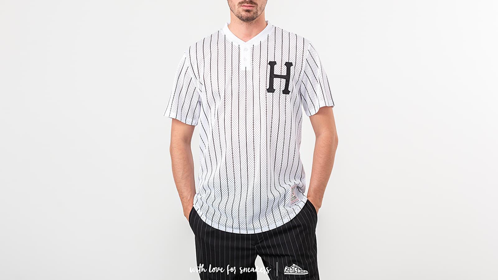 Tricouri HUF Bronx Henley Tee White