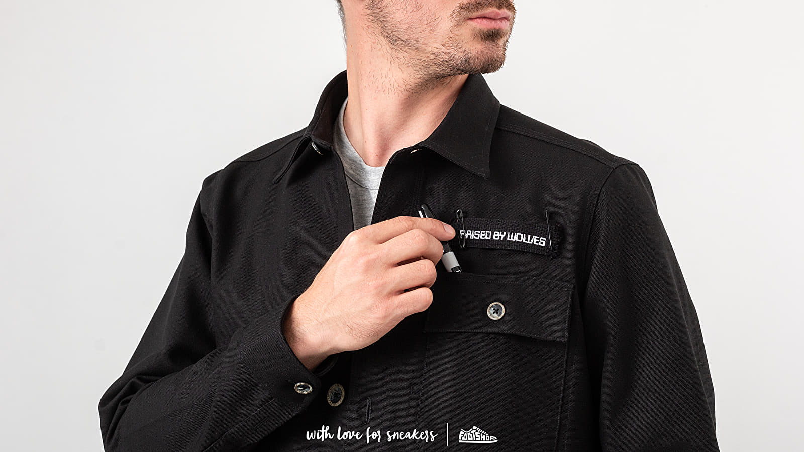 Μπουφάν Raised by Wolves DIY Noir De Travail Jacket Black