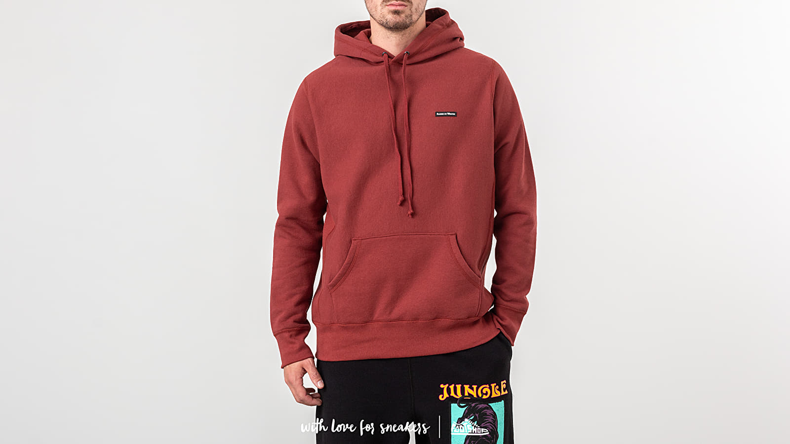 Bluzy i swetry Raised by Wolves PVC Logo Hoodie Congo Red