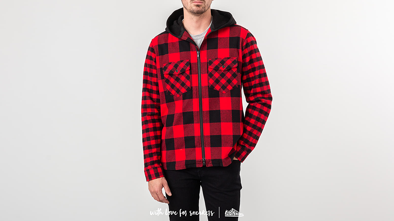 Raised by Wolves Chain Stitch Hooded Flanel Shirt
