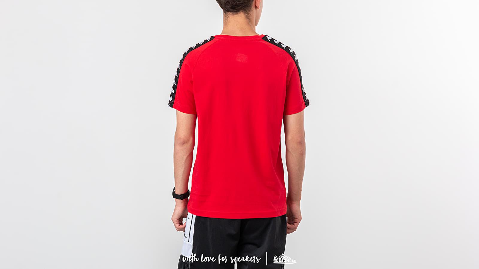 8738b3ed Kappa 222 Banda Coen Slim Tee Red/ Black/ White at a great price $28